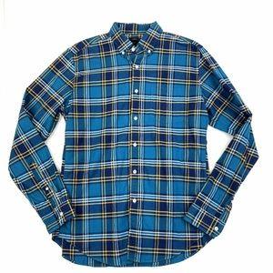 J. Crew Flannel Oxford Shirt Sz M